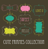 Cute frames collection. vector illustration — Stock Vector