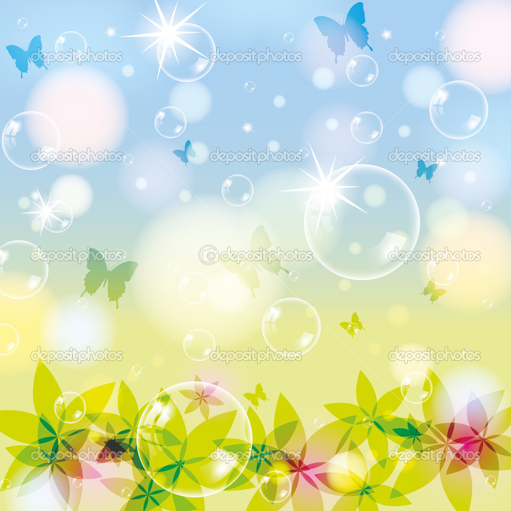 Abstract spring summer background stock illustration