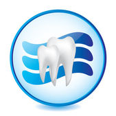 Abstract dental sign — Stock Vector
