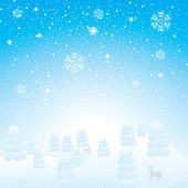 Abstract winter background — Vector de stock