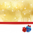 Abstract winter Christmas background -  