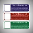 Winter web banners 3 colors — Stock Vector