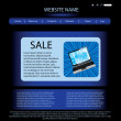 Stock Vector: Vector website design template