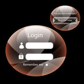 Modern web card form — Stock Vector