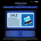 Vector website design template — Cтоковый вектор