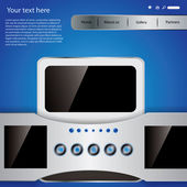 Vector website design template — Stockvektor