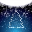 Abstract winter Christmas background - Stockvectorbeeld