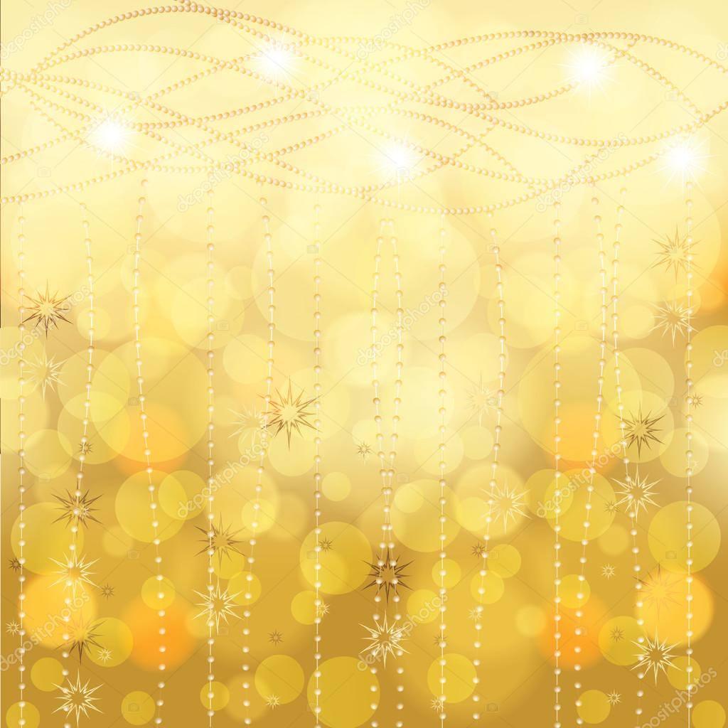 Abstract golden winter Christmas background  — Stock Vector #15399617