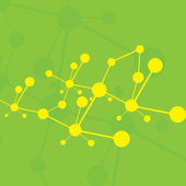 Molecule green background — Stock Vector