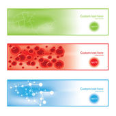 Molecule colorful background banners — Stock Vector