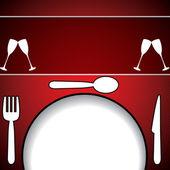Menu's en visitekaartjes voor restaurant — Stockvector