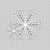 Abstract winter snowflakes design — Stockvektor