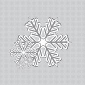 Soyut kış kar taneleri tasarım — Stok Vektör