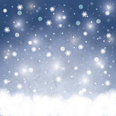 Abstract winter Christmas background — Vector de stock