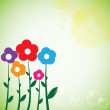 Beautiful colorful flowers spring background — Stock Vector