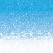 冬のクリスマスの背景を抽象化します。 — ストックベクタ