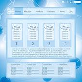 Modern blue medical website template form — Stock Vector