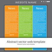 Moderne kleurrijke website sjabloonformulier — Stockvector