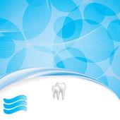 Abstract vector dental illustration — Stock Vector