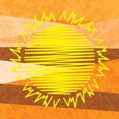 太陽の抽象的な背景 — ストックベクタ