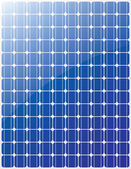 Solar panel vector — Stock Vector