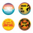 Summer offer stickers set — Stock Vector