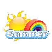 Vector summer illustration — Stock Vector