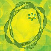 DNA green background — Stock Vector