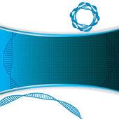 Fond bleu de l'Adn — Vecteur