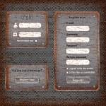 Modern rusted web card login form — Stock Vector #26581687