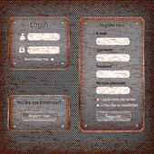 Modern rusted web card login form — Stock vektor