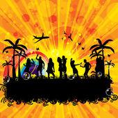 Beach Party design template — Stock Vector