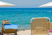 Incrível praia grécia sarti — Foto Stock