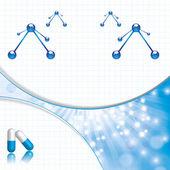 Molekula modré pozadí — Stock vektor
