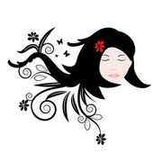 Woman hair abstract illustration — Vettoriale Stock