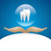 Dentale illustrazione vettoriale astratta — Vettoriale Stock