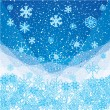 Abstract blue winter Christmas background — Vector de stock