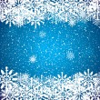 Stock Vector: Abstract blue winter Christmas background