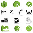Set of different kind of logo — Stock Vector #34624537