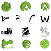 Set of different kind of logo — Stock Vector