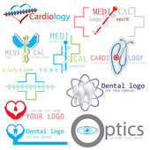 Set of medical logos icons — Stock Vector