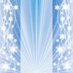 abstracto azul invierno Navidad fondo — Vector de stock