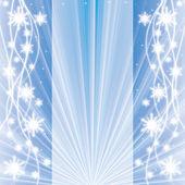 абстрактный голубая зима рождественский фон — Cтоковый вектор
