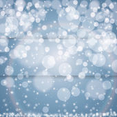 Abstract blue winter Christmas background — Stock Vector