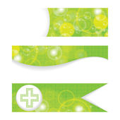 Set of green medical banners or website headers — Stock Vector