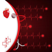 Abstract medical cardiology ekg background — Vector de stock