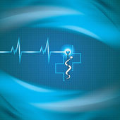 Abstract medical cardiology ekg background — Vettoriale Stock