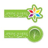 Spring and environmental banner set — Stock Vector