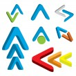 Abstract 3d arrow icon set — Stock Vector #39979709