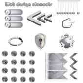 Web design metal elements collection — Stok Vektör